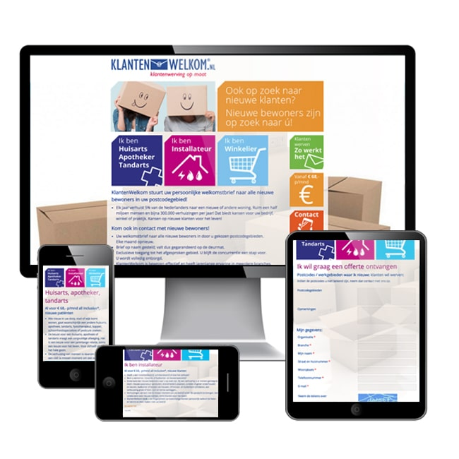 Website over direct mail